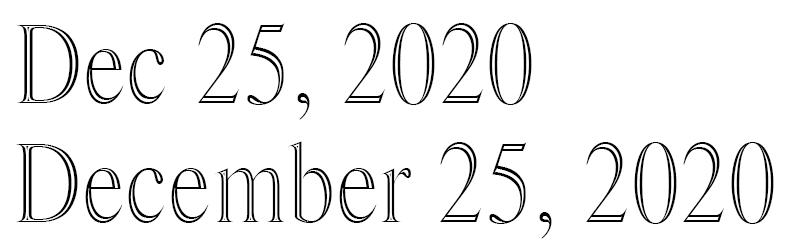 Engraving Dates