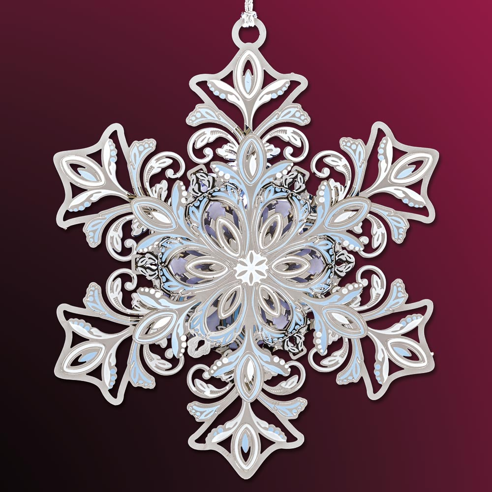 2018 Beacon Design Glowing Snowflake Ornament Sterling