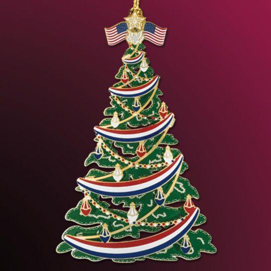 Patriotic Christmas Ornaments.Beacon Design Classic Patriotic Christmas Tree Ornament