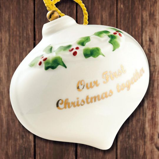 2018 belleek our first christmas ornament sterling collectables