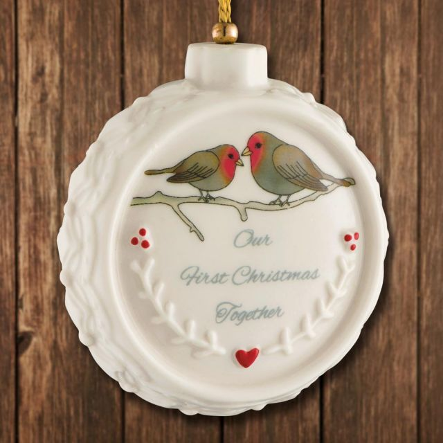First Christmas Together Ornament 2020 Sterling Collectables: 2020 Belleek Our First Christmas Ornament