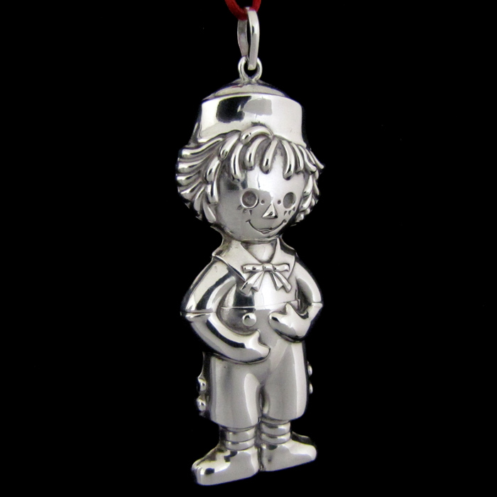 Cazenovia Raggedy Andy Sterling Ornament Sterling