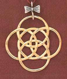 3af7c8aa Hand & Hammer Five Golden Rings Sterling Ornament