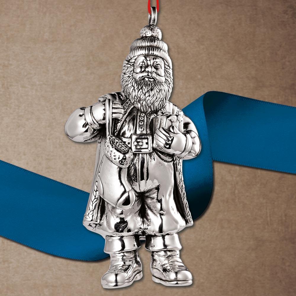 jt inman italian santa sterling ornament