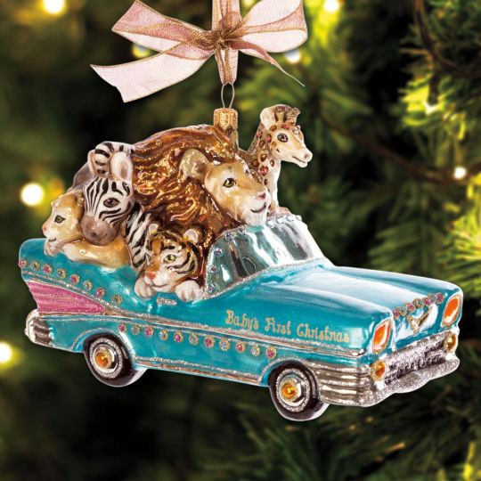2017 Jay Strongwater Baby's First Christmas Ornament | Sterling ...