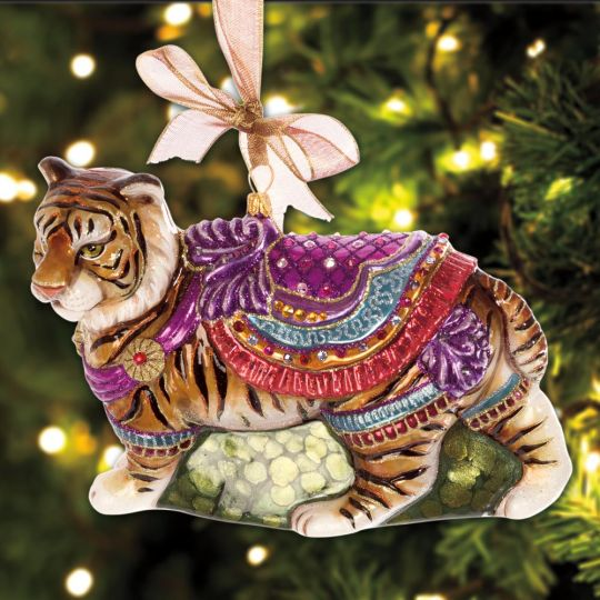 Jay Strongwater Carousel Tiger Ornament - Jay Strongwater Carousel Tiger Ornament Sterling Collectables