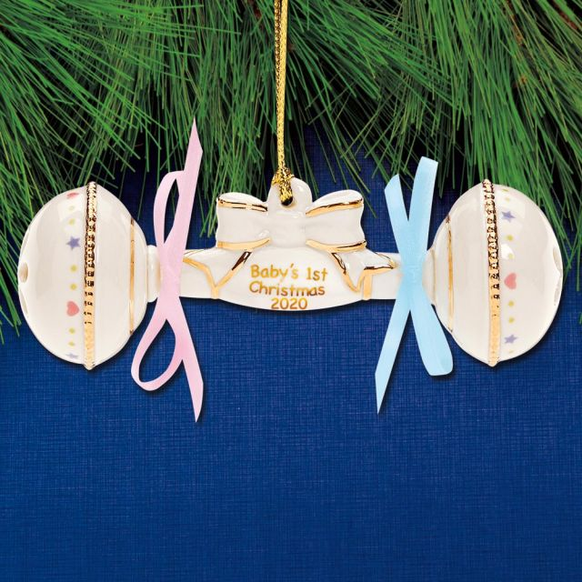 Sterling Collectables: 2020 Lenox Baby's First Christmas Rattle