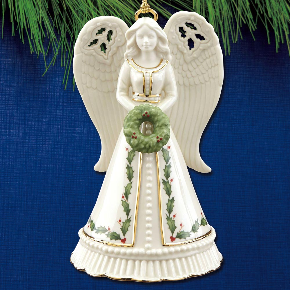 2018 Lenox Holiday Angel Bell Porcelain Ornament