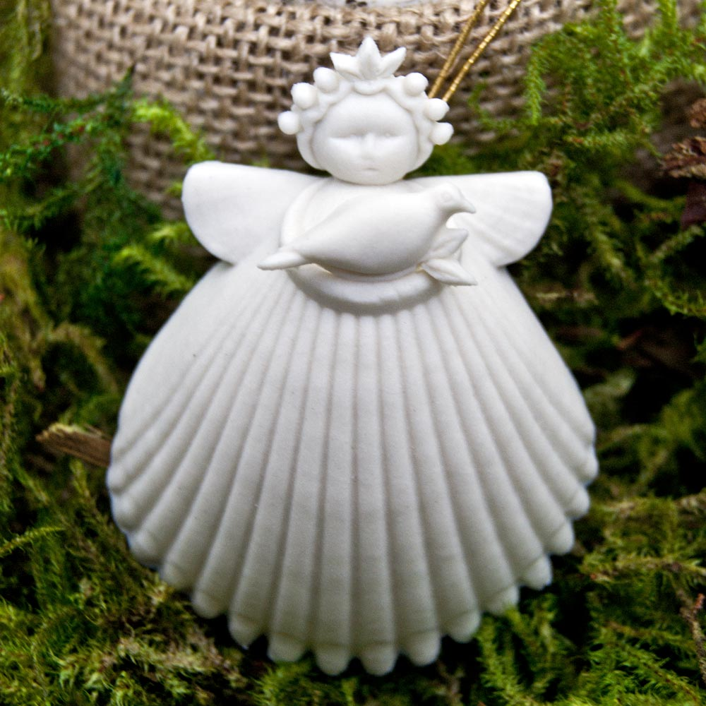 2017 Margaret Furlong Dove Angel Porcelain Ornament