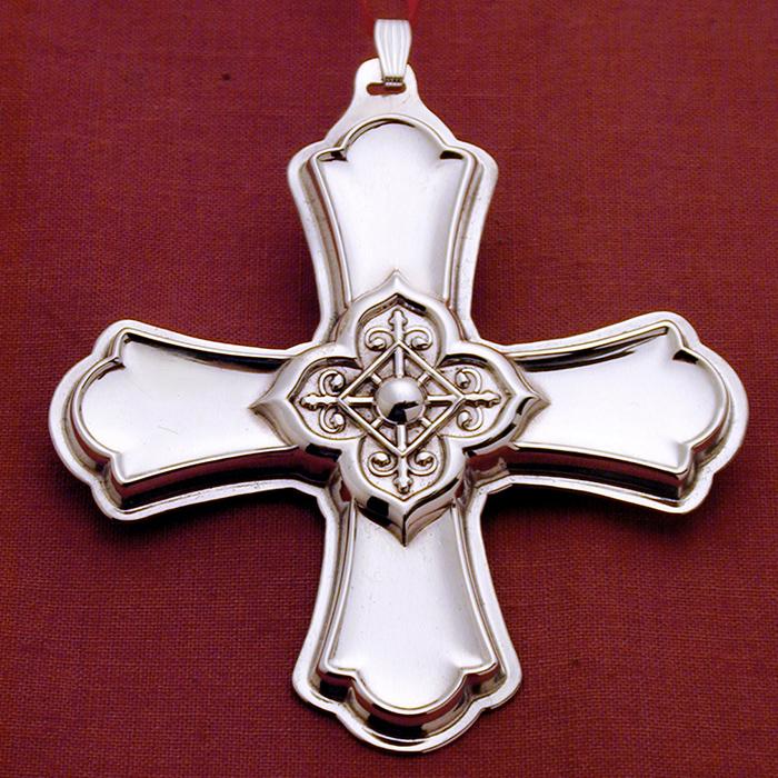 2004 reed  u0026 barton cross sterling ornament