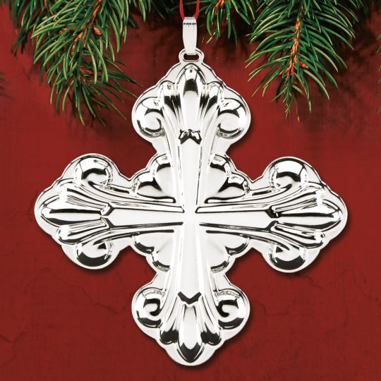 2017 Reed & Barton Christmas Cross 47th Sterling Ornament ...