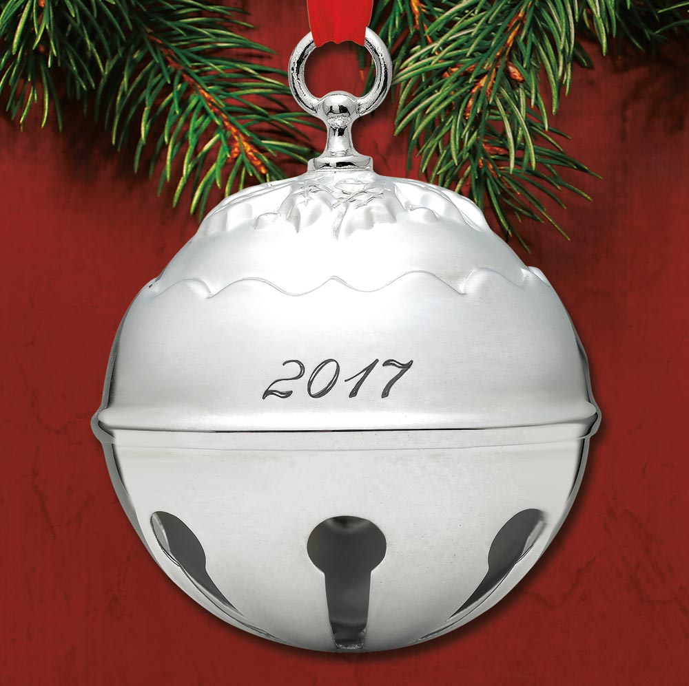 2017 Reed Amp Barton Holly Bell 42nd Silverplate Ornament