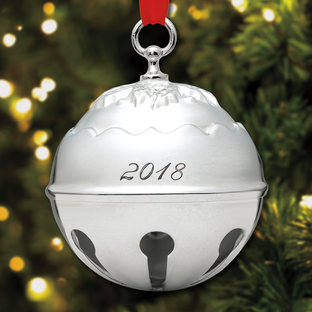 2018 Reed Amp Barton Holly Bell Silverplate Ornament