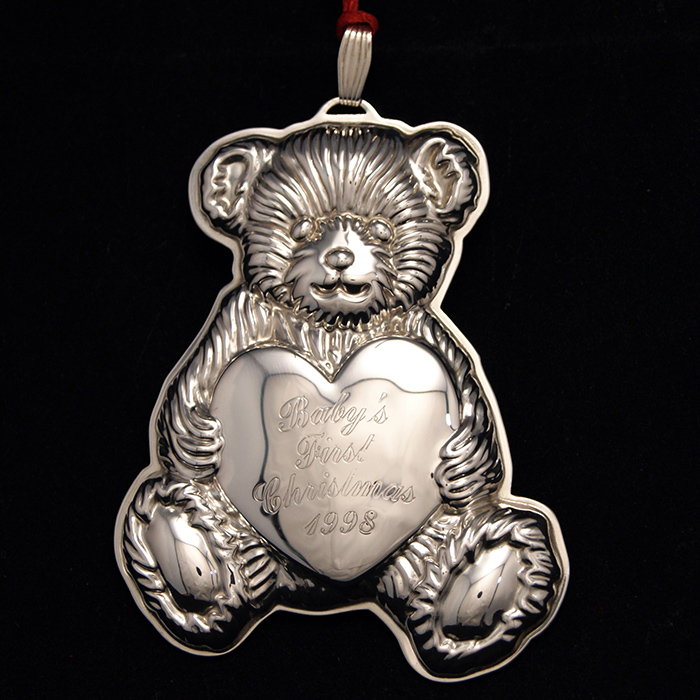 1998 Reed Amp Barton Baby S First Christmas Bear Sterling