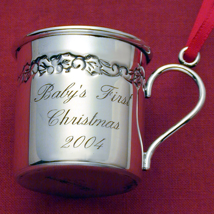 2004 Reed Amp Barton Baby S First Christmas Cup Sterling
