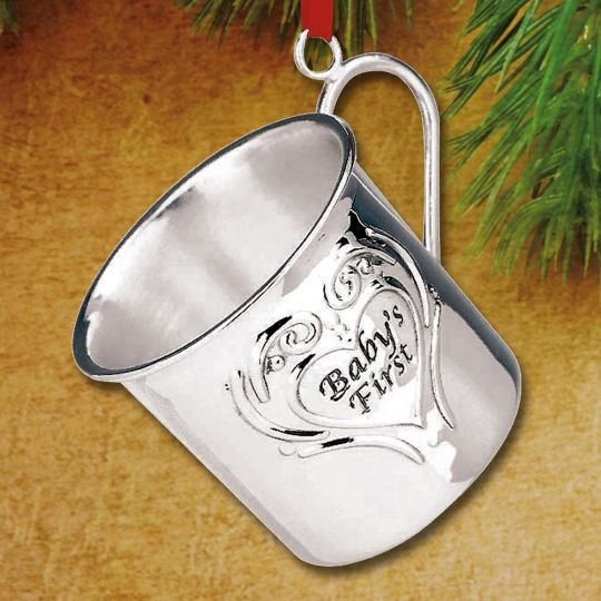 2016 reed barton babys first christmas cup sterling ornament