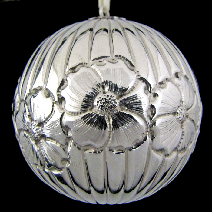 St Albans Fluted Ball Sterling Ornament Sterling