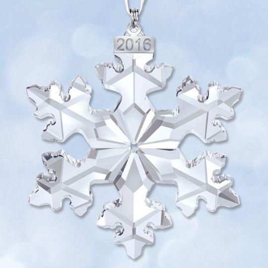 f27542b164313a 2016 Swarovski Annual Snowflake Crystal Ornament