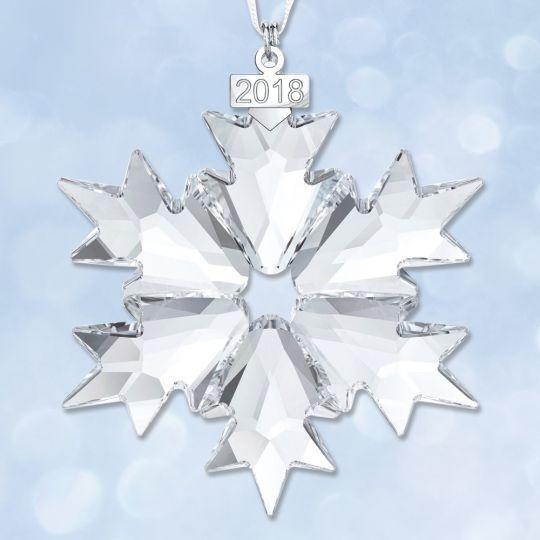 f8dde159099d 2018 Swarovski Annual Snowflake Crystal Ornament