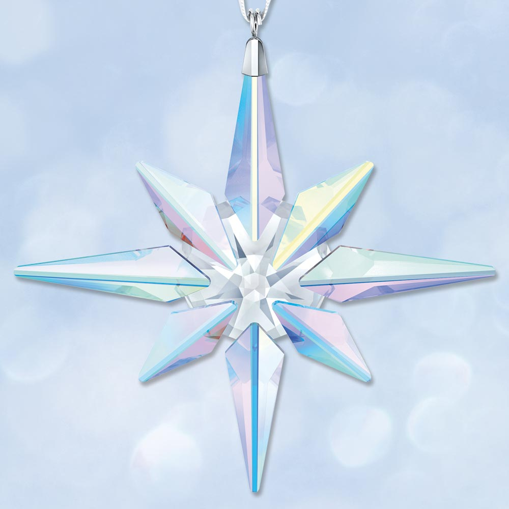 2018 Swarovski Aurora Borealis Star Crystal Ornament