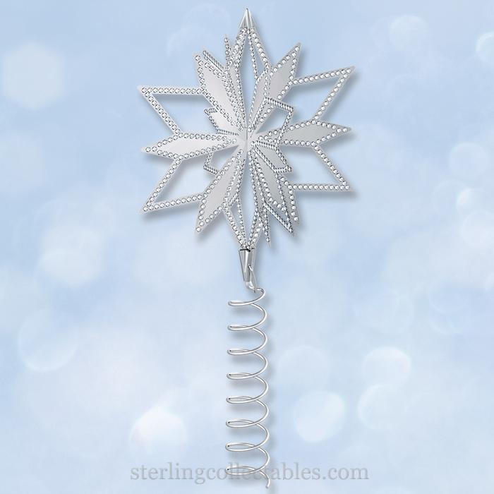 2014 Swarovski Christmas Star Tree Topper Sterling