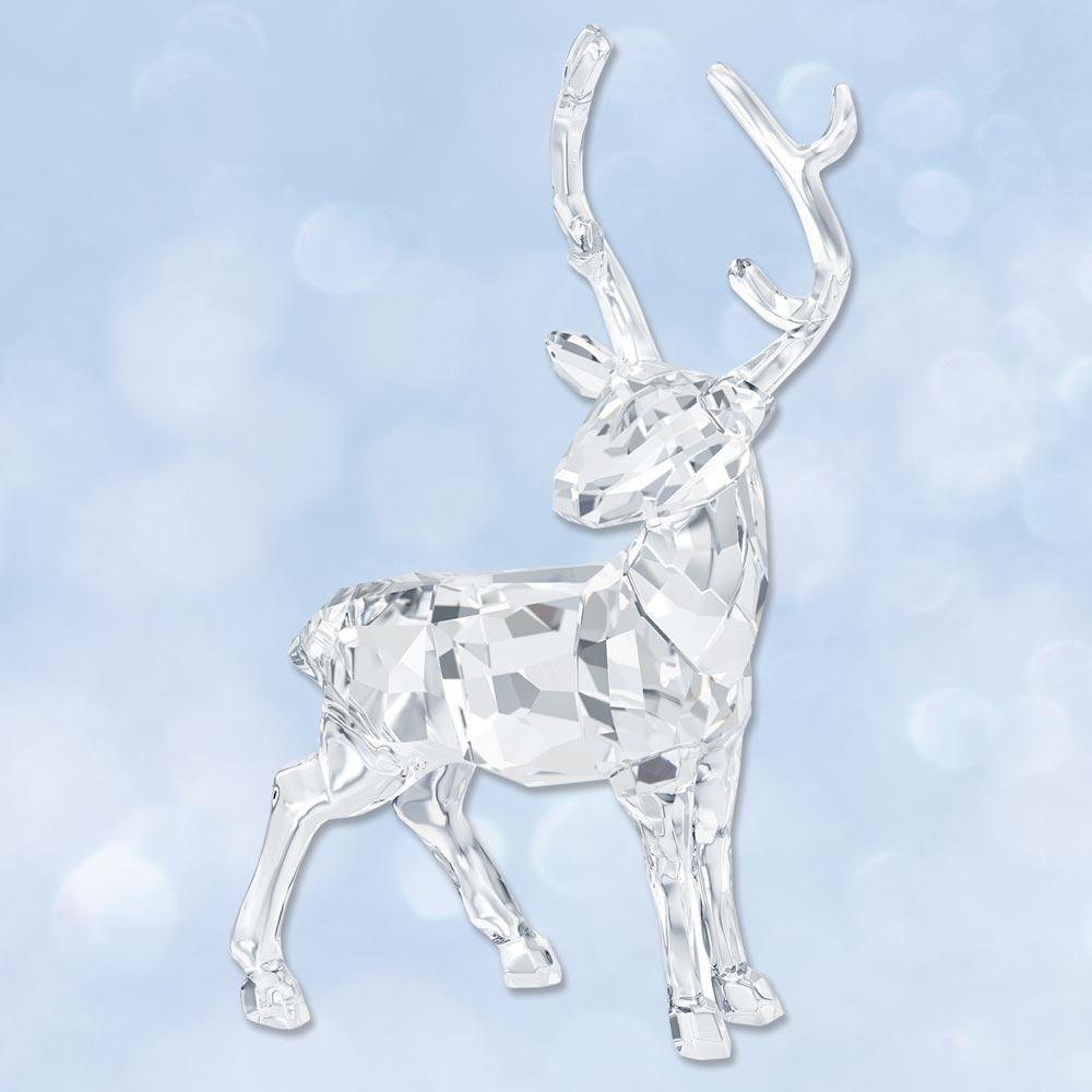 2015 swarovski stag crystal figurine sterling collectables - Swarovski stag figurine ...