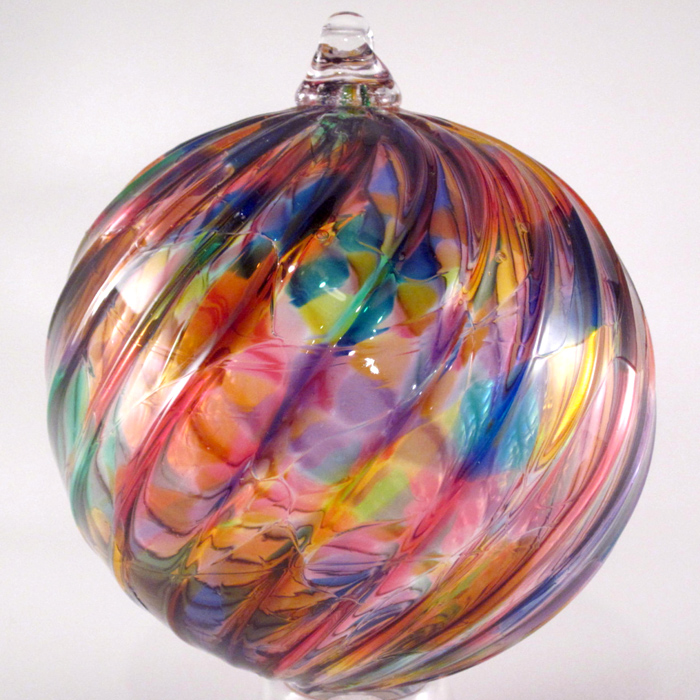 Tazza Glass Rainbow Twist Ornament Sterling Collectables