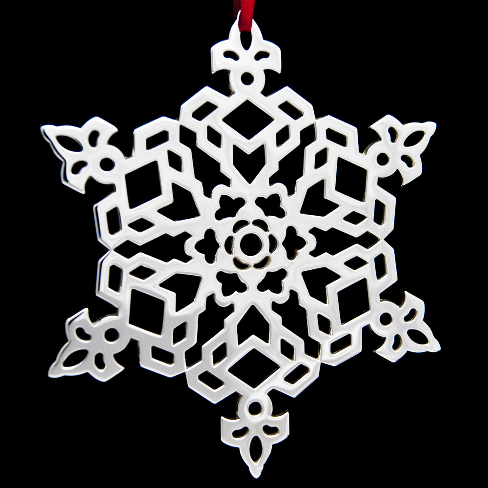 Tiffany Snowflake Sterling Ornament Sterling Collectables