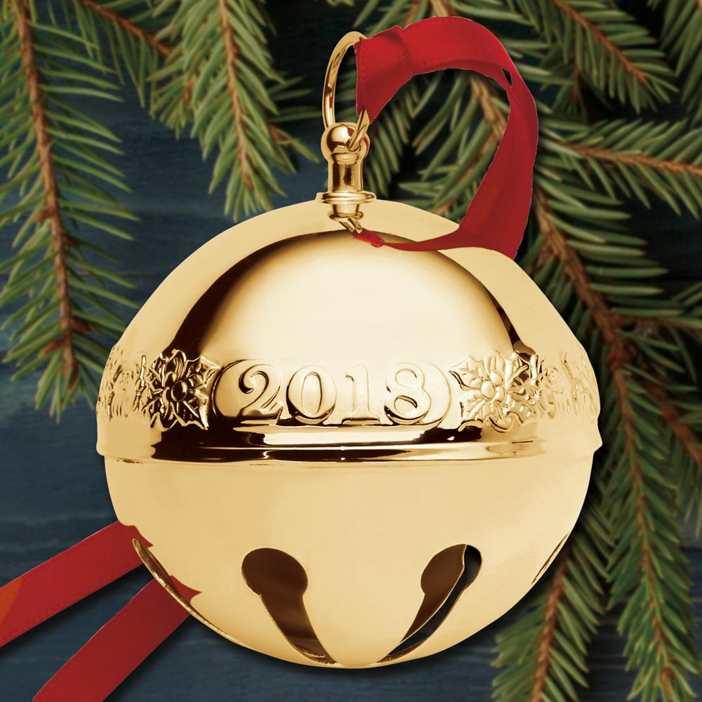 2018 Wallace Sleigh Bell 29th Edition Goldplate Ornament