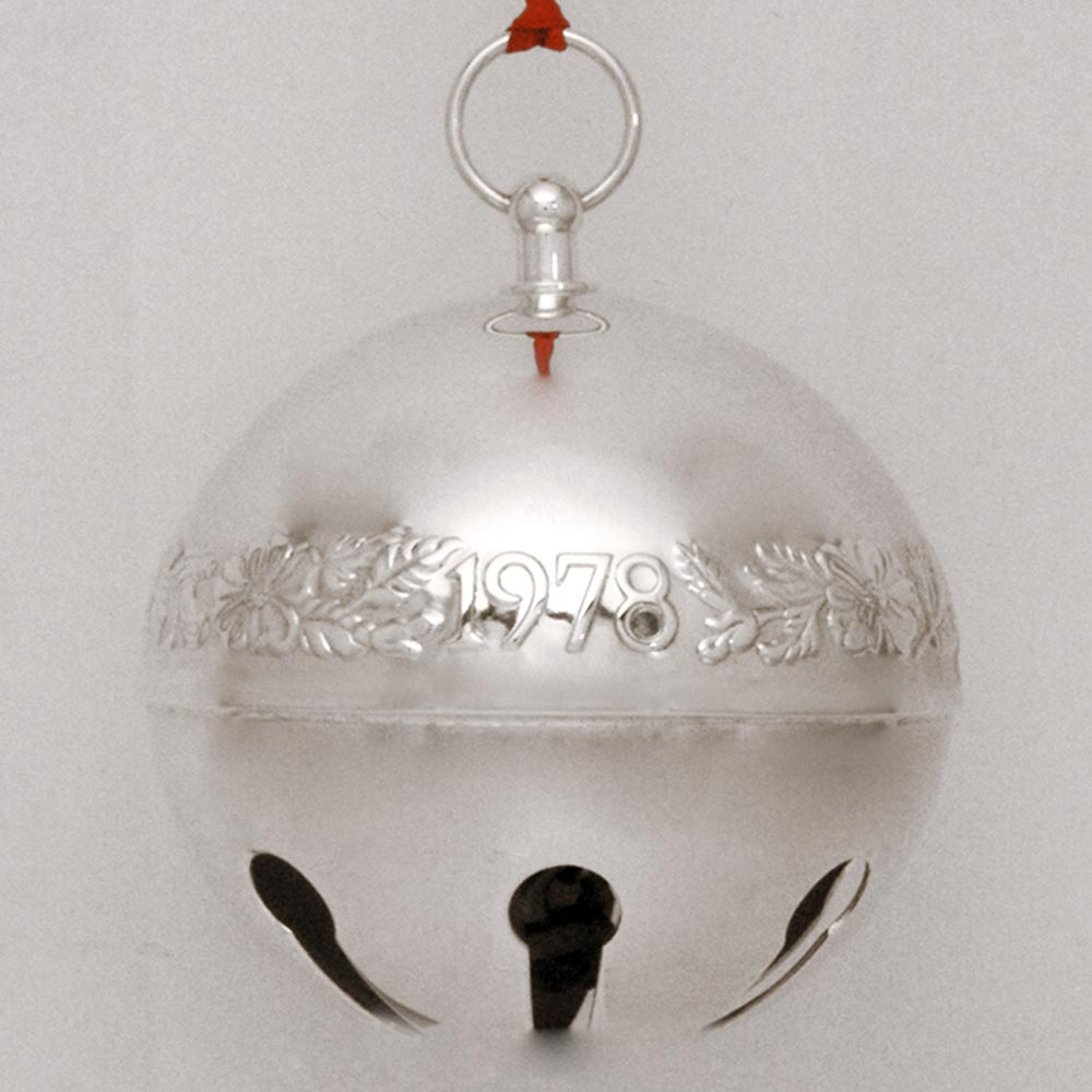 1978 Wallace Sleigh Bell Silverplate Ornament Sterling