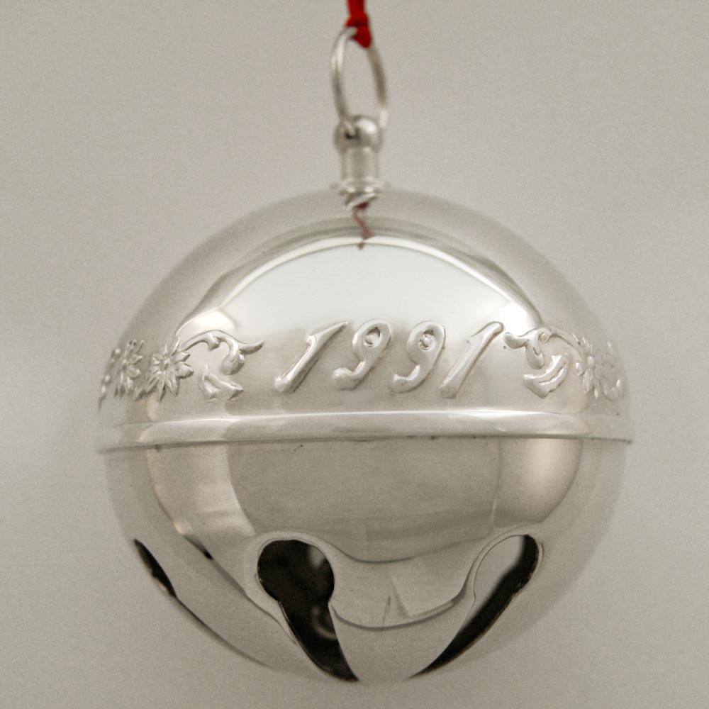 1991 wallace sleigh bell silverplate bell ornament
