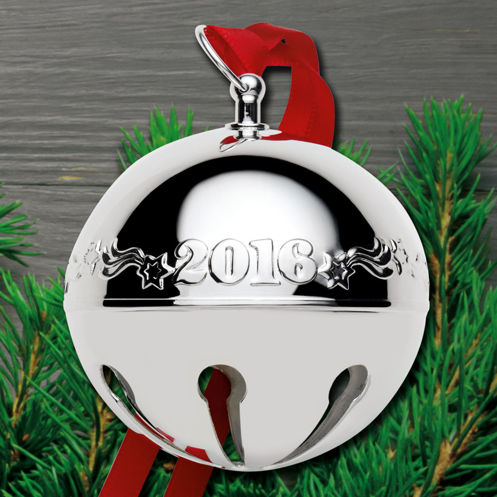 2016 Wallace Sleigh Bell 46th Edition Silverplate Ornament