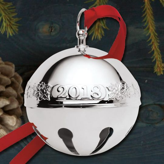 2018 Wallace Sleigh Bell 48th Edition Silverplate Ornament - 2018 Wallace Sleigh Bell 48th Edition Silverplate Ornament