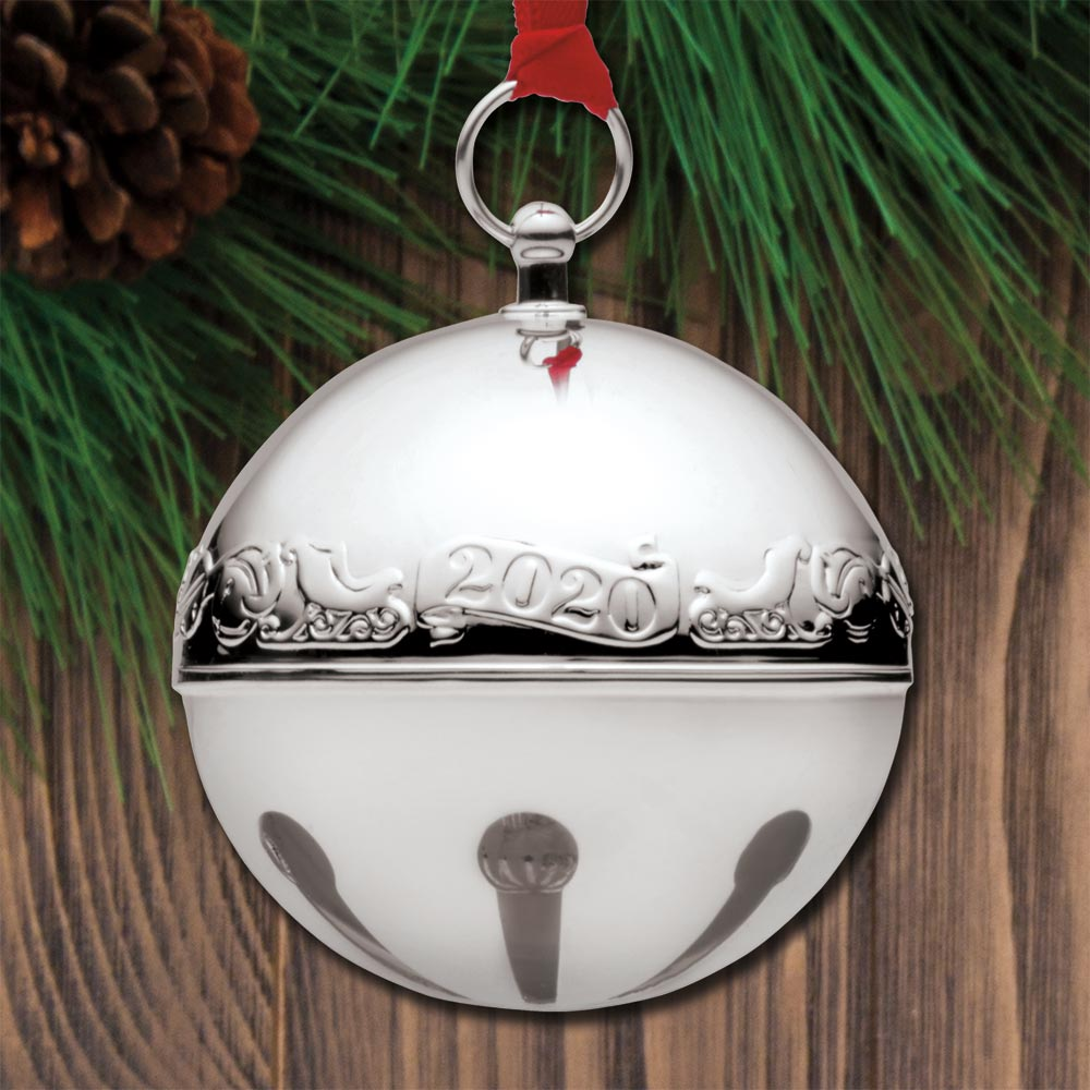 Wallace Silversmith 2021 Annual Christmas Ornament Sterling Collectables 2020 Wallace Sleigh Bell 50th Edition Silverplate Ornament