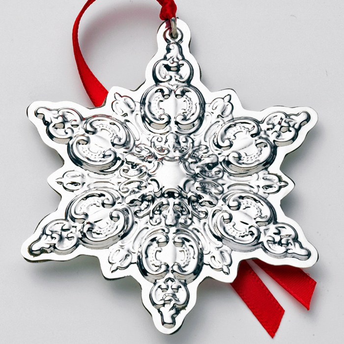2004 Wallace Grande Baroque Snowflake Sterling Ornament