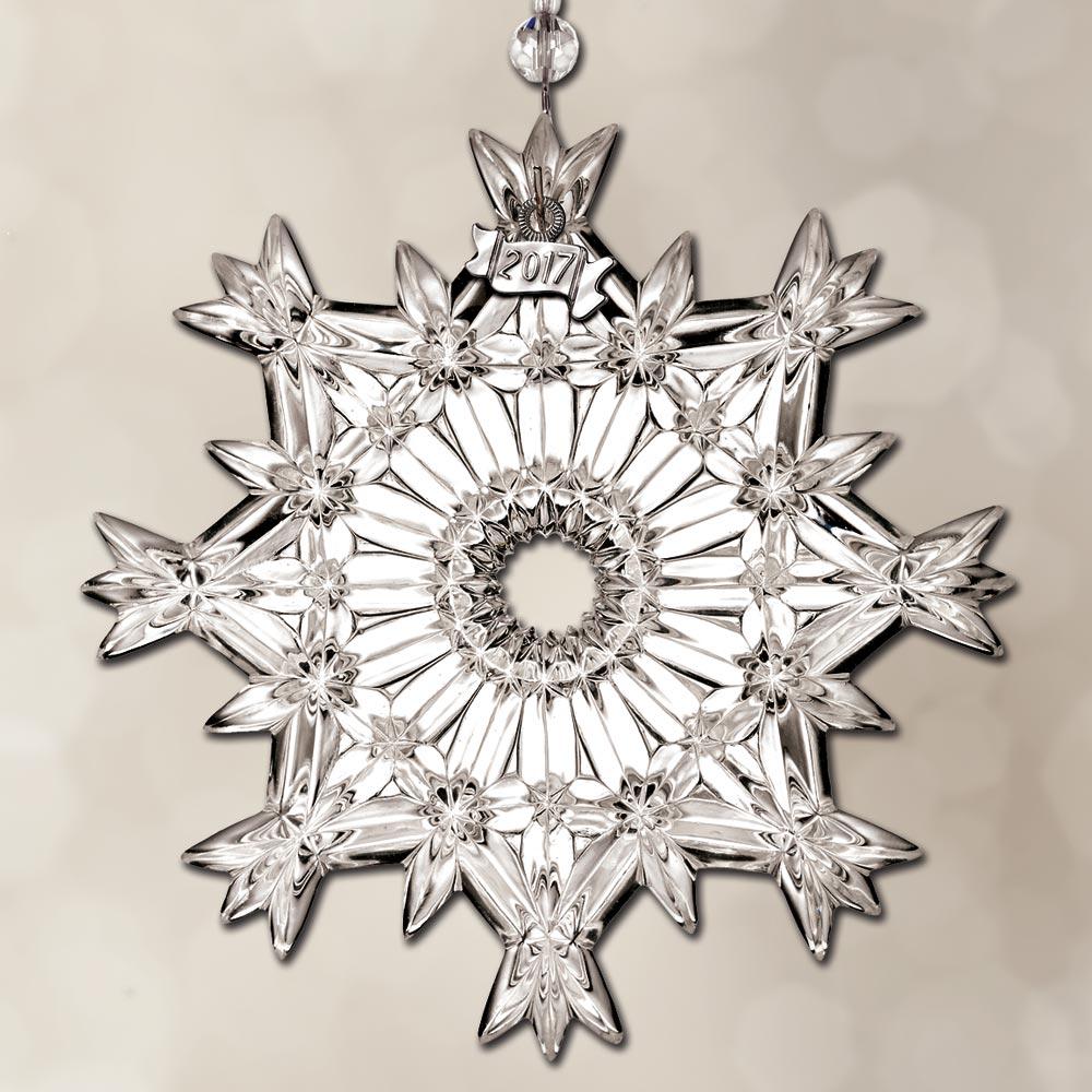 2017 waterford snowcrystal pierced crystal ornament