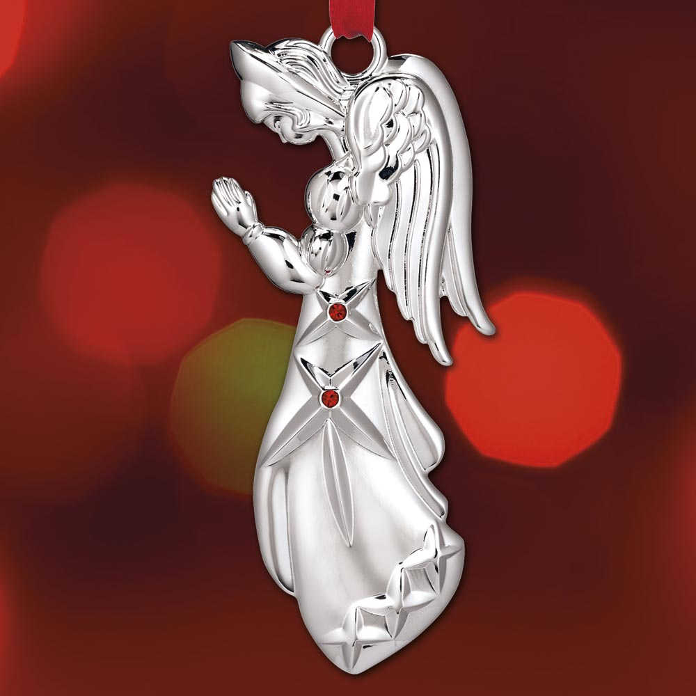 2017 Waterford Angel Silverplate Ornament Sterling