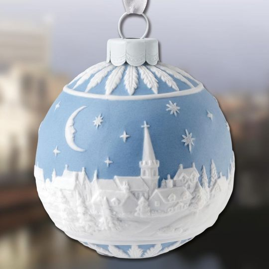 2018 Wedgwood Christmas Sky at Night Ball Porcelain Ornament - 2018 Wedgwood Christmas Sky At Night Ball Porcelain Ornament
