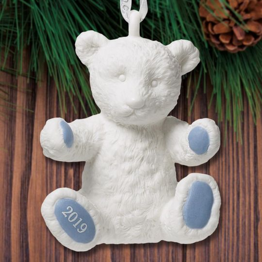 Wedgwood Christmas Ornaments 2019.2019 Wedgwood Baby S First Christmas Blue Porcelain Ornament