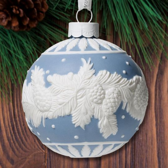 Wedgwood Christmas Ornaments 2019.2019 Wedgwood Winter Pine Ball Porcelain Ornament