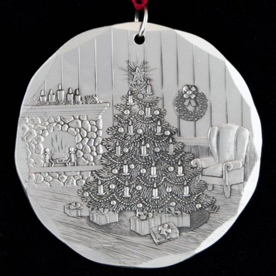 Christmas In August 1998.1998 Wendell August Christmas Tree Sterling Ornament