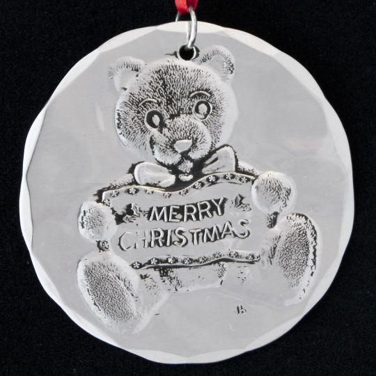 396939f7e51 1986 Wendell August Teddy Bear Sterling Ornament